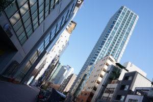 西新宿五丁目駅付近